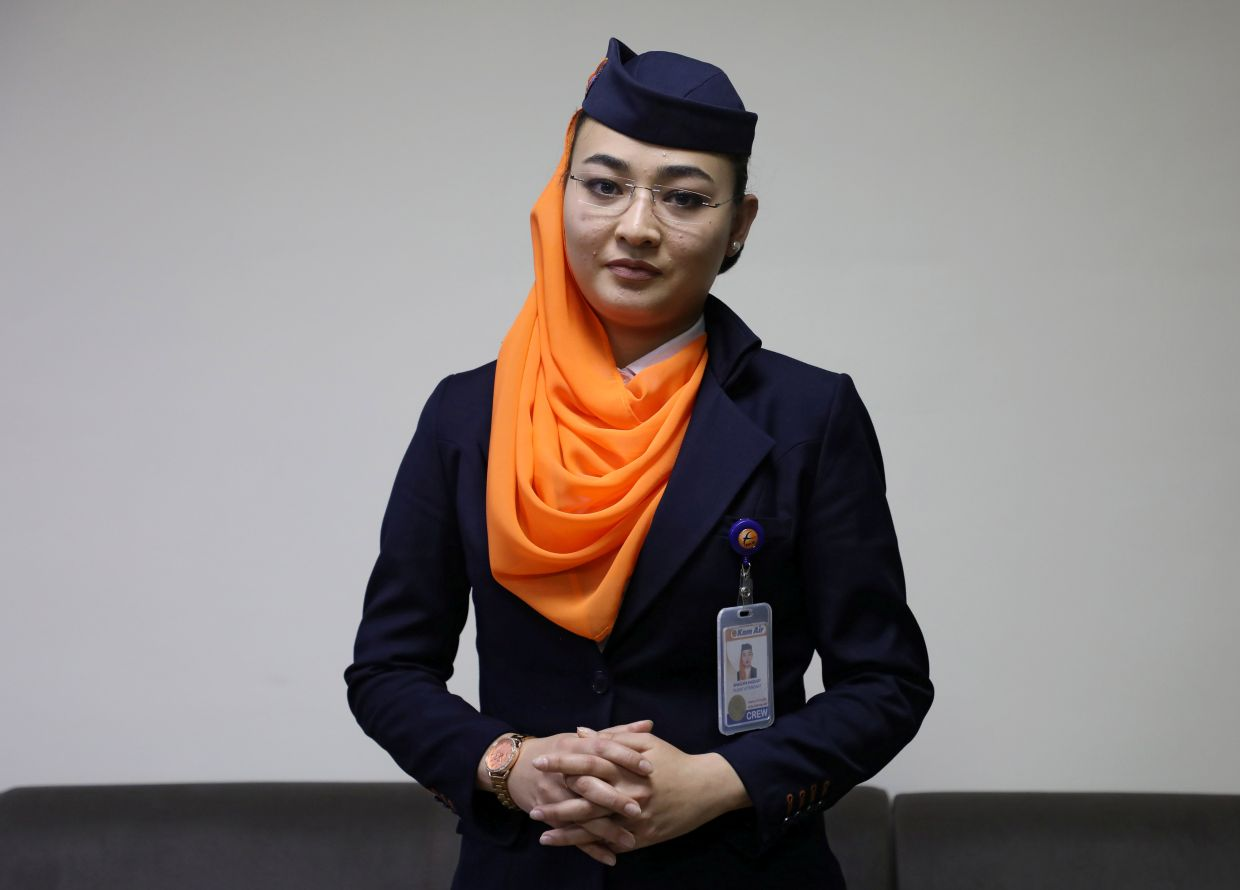Haidari used to fly six days a week around Afghanistan and abroad. Then Covid-19 hit and now she barely flies. Photo: Reuters: