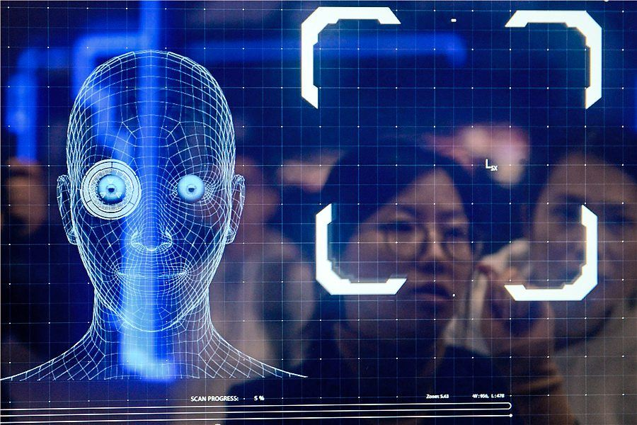 Tencent showcasing its image recognition technology at an expo in Wuzhen, Zhejiang province, last year. Green Packet's KipleID is powered by Tencent Cloud's facial recognition and machine learning technology.