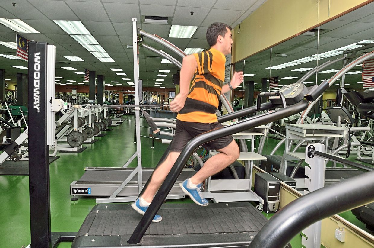 With the treadmill, you are technically jogging in the same spot, but the conveyor belt is moving so you have to take strides forward to move.