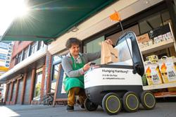 Food delivery robots a safe solution during pandemic