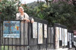 LA's 'eccentric art lady' turns house into open art gallery with own art pieces