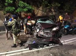 Car and bus collision in Teluk Bahang leaves three injured