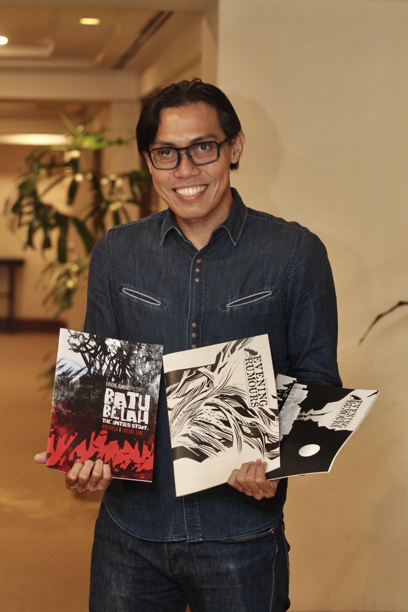 Faezal views 'Batu Belah' as a standalone book in relation to his 'Evening Rumours' series. Photo: The Star/Low Lay Phon
