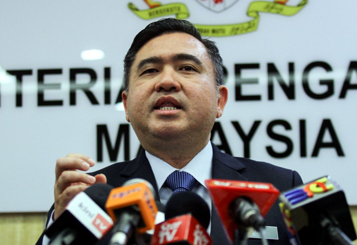Malaysia's former Transport Minister Anthony Loke at a media briefing in Putrajaya. Photo: The Star/Mohd Sahar