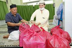 Buka puasa meal for Muslim families