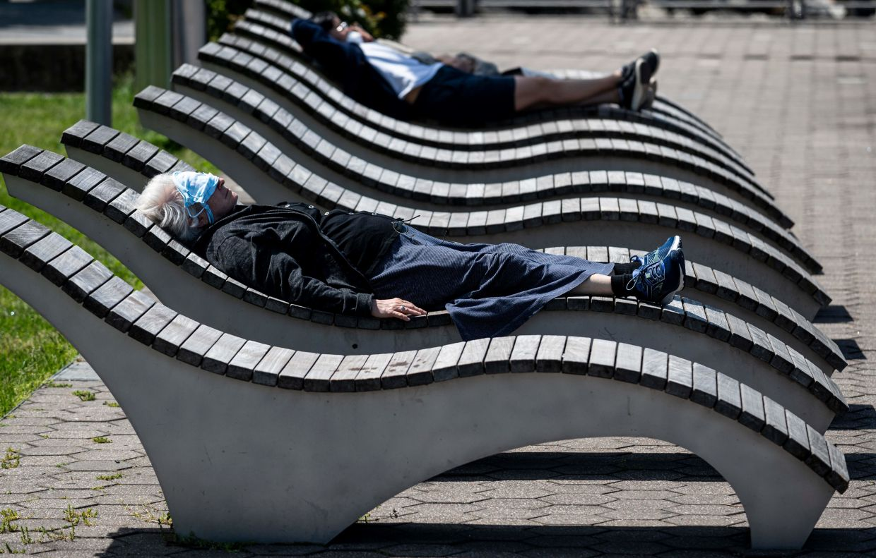 Social distancing is the new normal, even in parks like this one in Queens, New York. Photo: AFP
