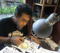 Malaysian cartoonist Mie shares kampung memories through his works