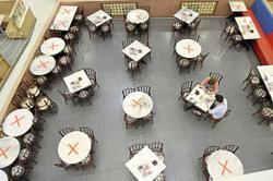 Penangites enjoying dine-in services