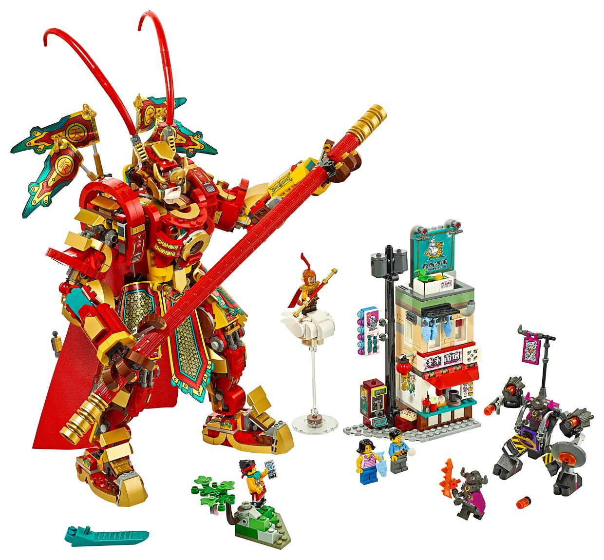The Monkey King Warrior Mech is one of the highlights of the new Lego Monkie Kid range.