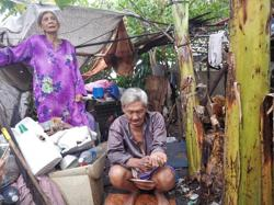 They're senior citizens, and they've been living in a dumpsite