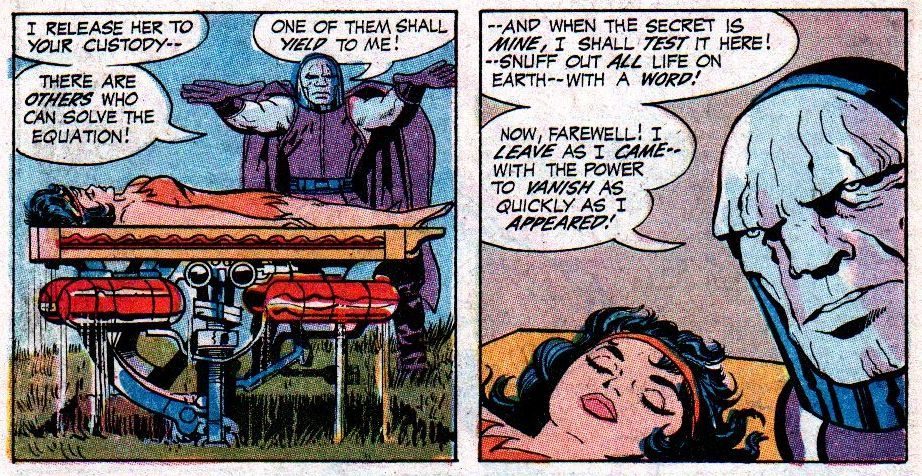 Darkseid made hi first full appearance in 1970's 'Forever People' #1.