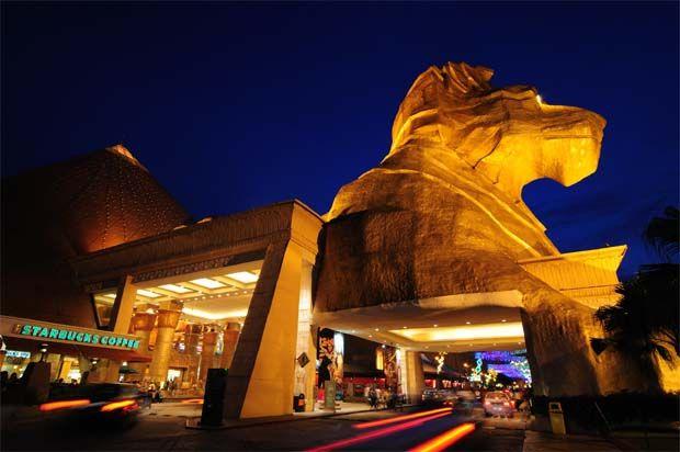 the iconic Sunway Pyramid lion