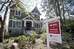 Canada house prices fall