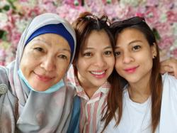 Actress Fify Azmi happy to spend more time with mum during MCO