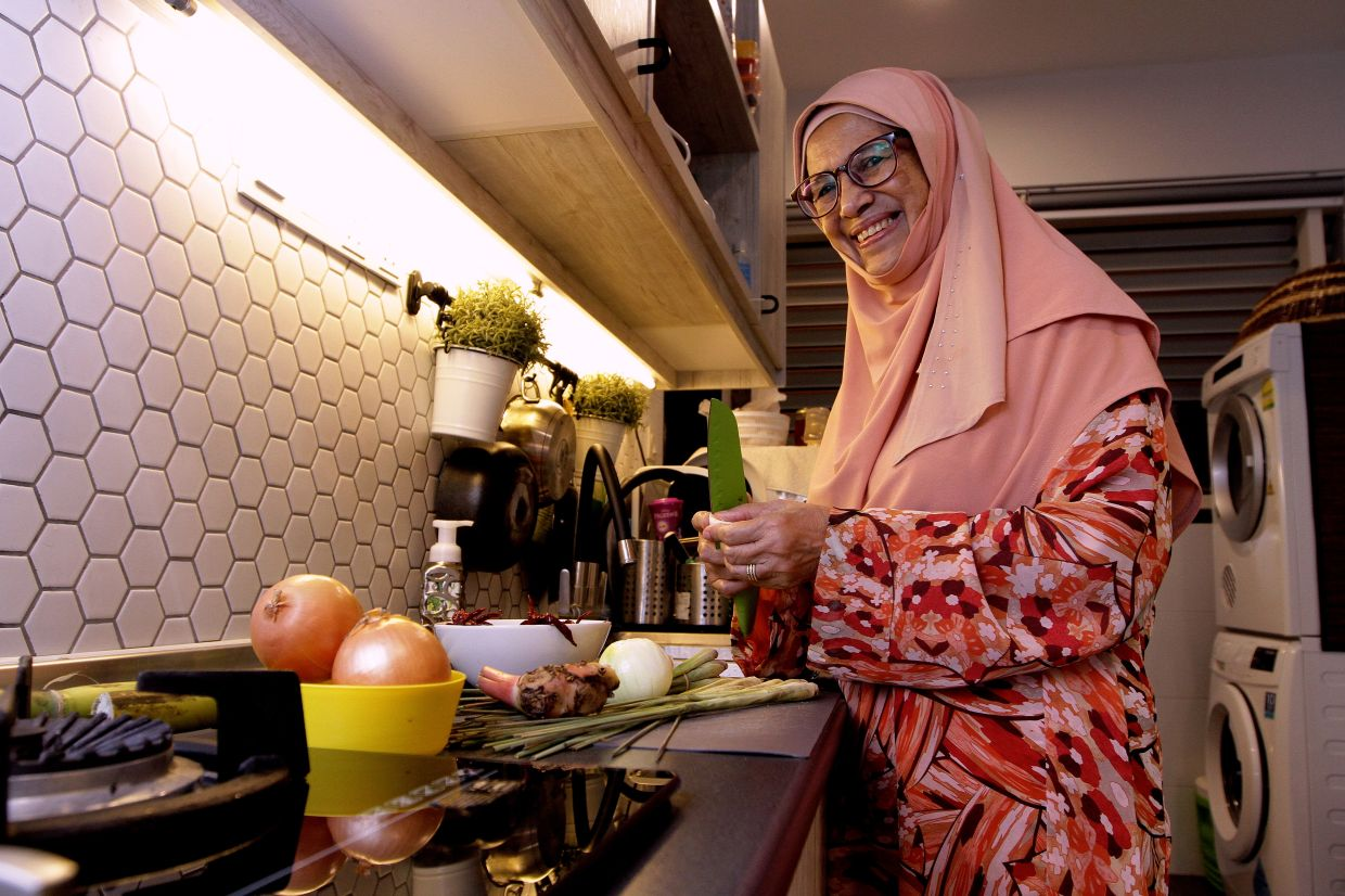 Due to the MCO, Sharifah Intan is only cooking for her family members this Hari Raya.