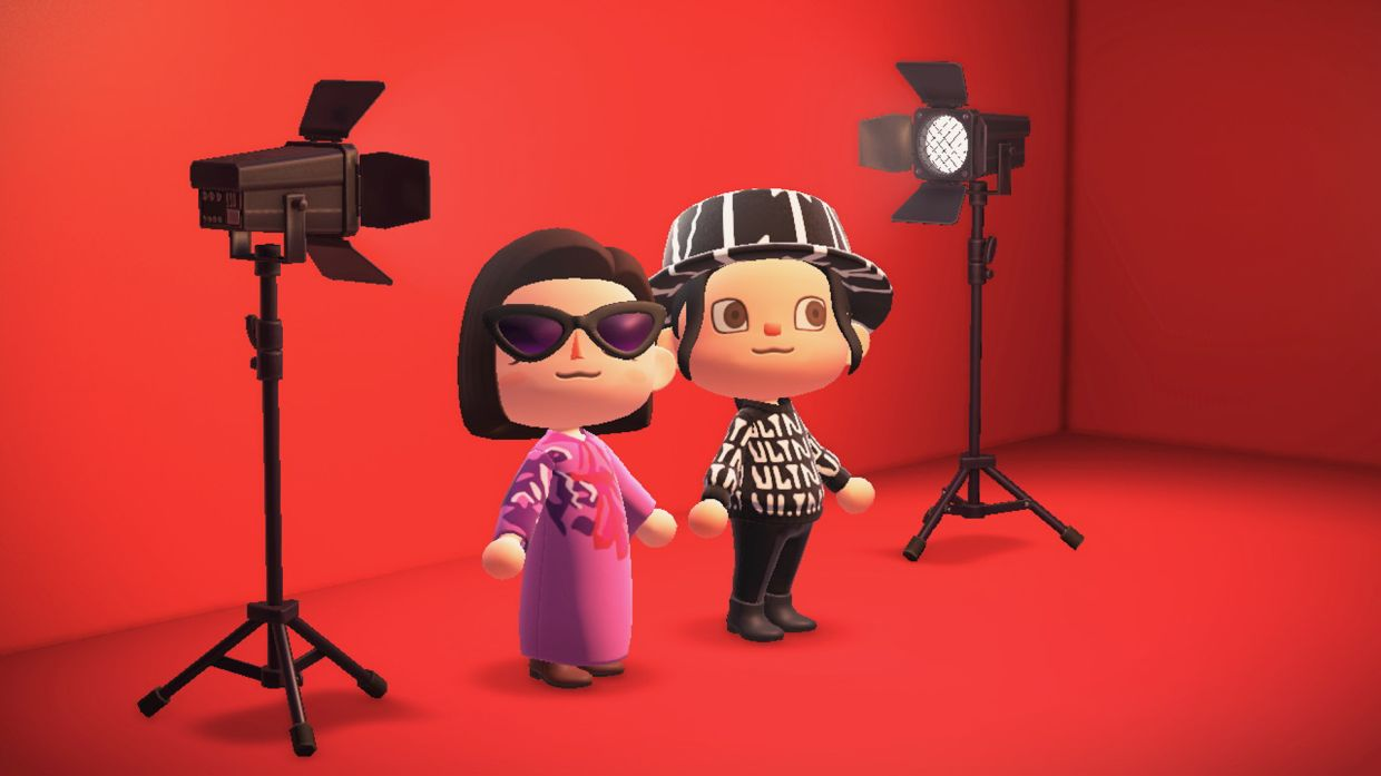Valentino's custom virtual clothing for Animal Crossing comprise cute and stylish designs.