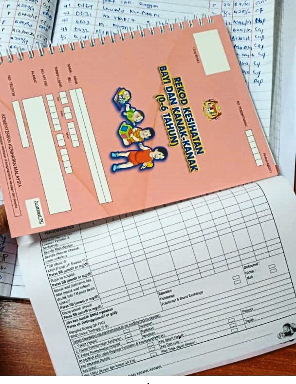 A Malaysian child's health and immunisation record book. If your child has missed one or more vaccination appointments, do schedule a new appointment as soon as possible. — Photos: Immunise4Life