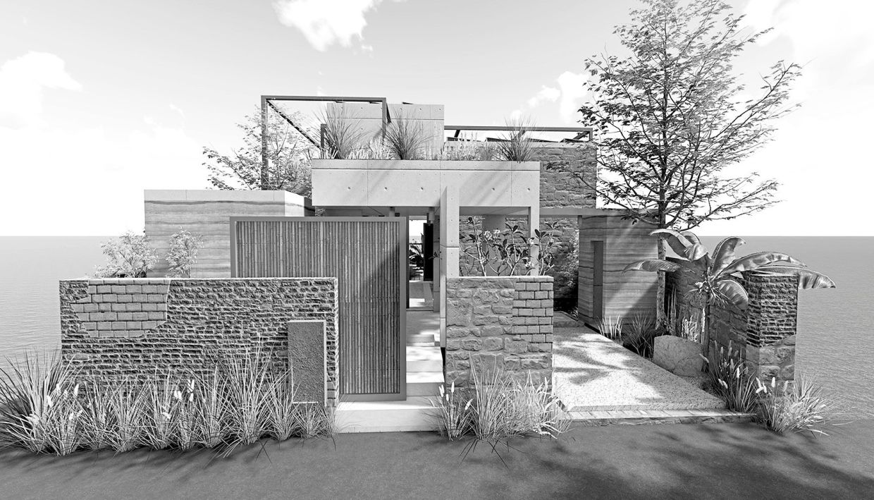 The House Humane design includes farming features, renewable sources of energy and the use of automation to promote touchless situations. Photo: Atelier Adish Patni