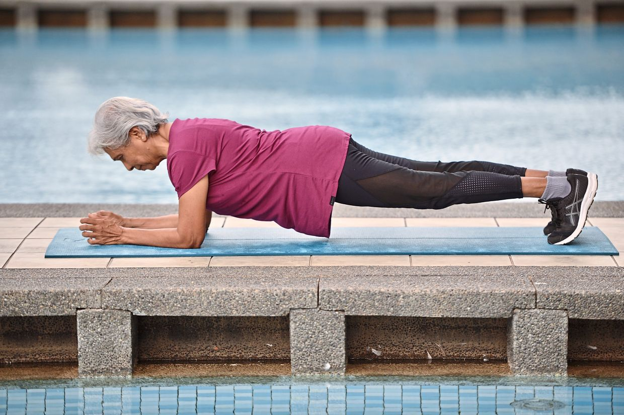 She's 76, physically fit... and only started going to the gym in her 60s