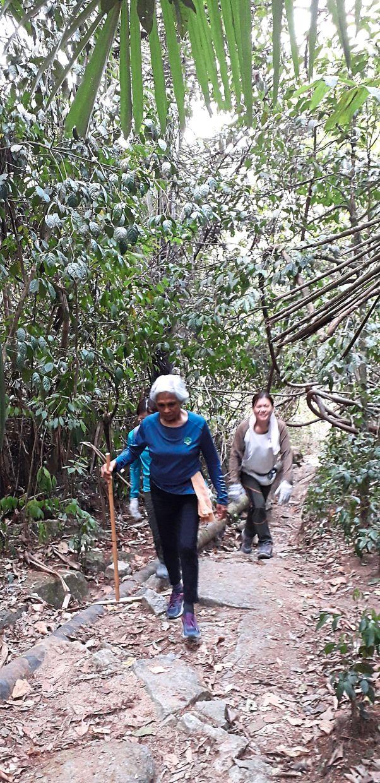 The natural surroundings of the jungle was what hooked Nisha onto hashing. — NISHA MOHD IBRAHIM