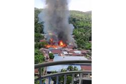 Fire destroys two homes