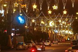 Low-key Hari Raya decorations at malls