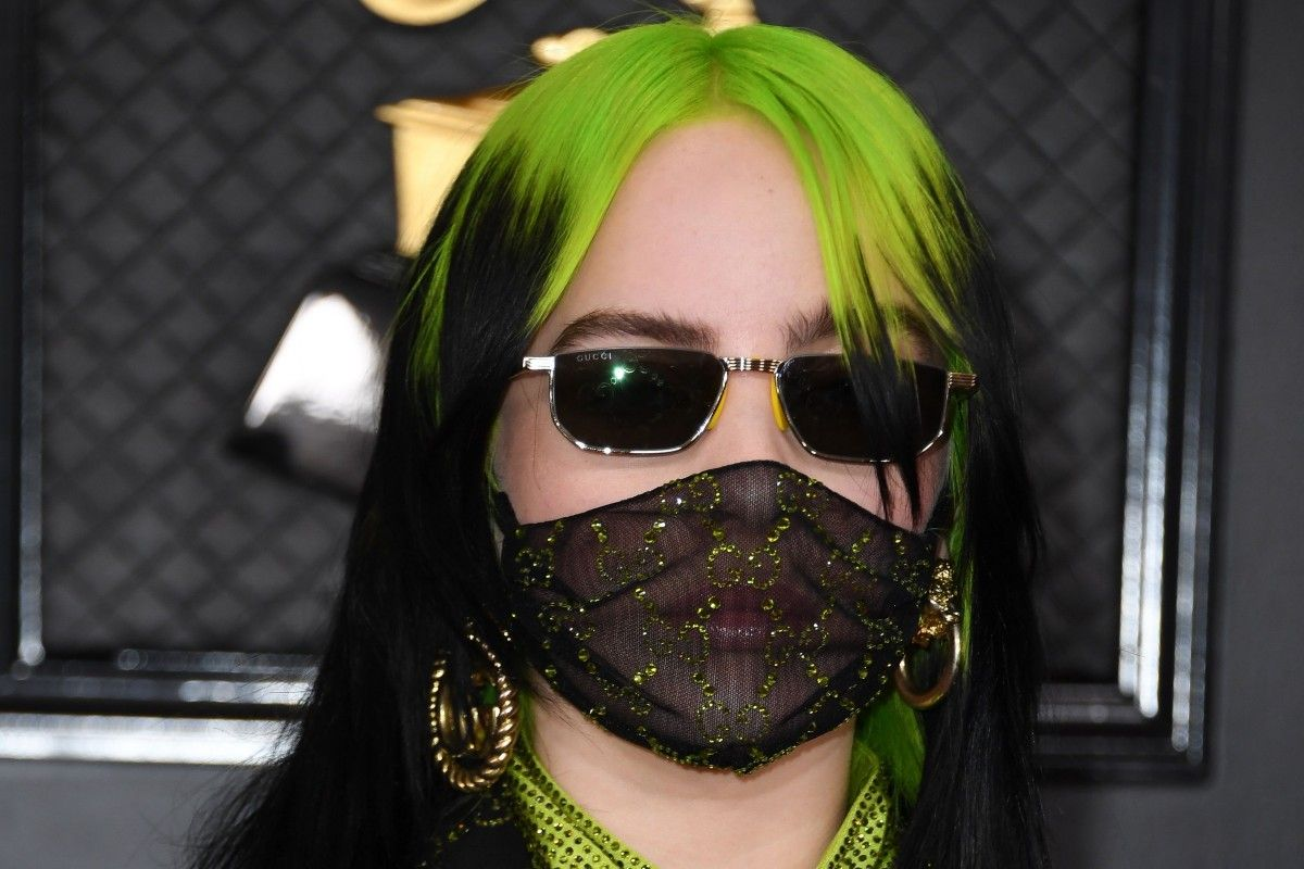 Billie Eilish donned a Gucci custom double-G-emblazoned mask for the Grammy Awards in January.