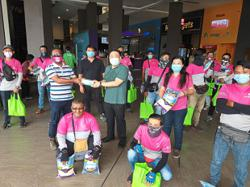 50 delivery riders in Seremban get food packs, face masks