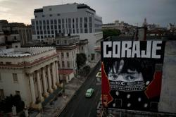 'Corona town': Cuban graffiti depicts anguish, urges courage