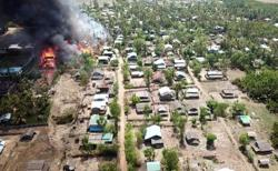HRW: Myanmar village destruction has 'hallmarks' of military