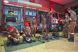 668 firefighters answer call of duty during Raya