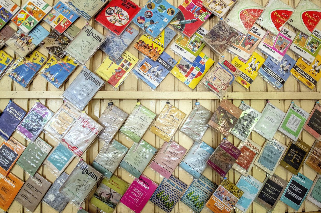 A selection of Anuar's vintage books dating back to the 1950s. Photo: Bernama