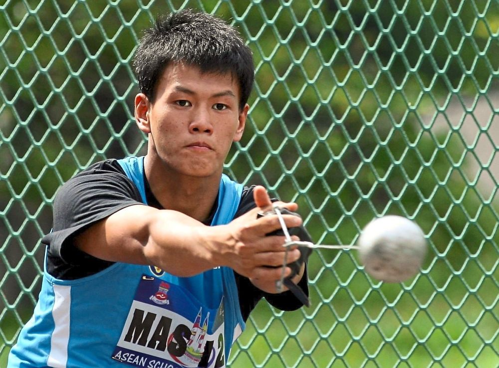 No longer cooped-up: Hammer thrower Jackie Wong can return to training now that he has been released from the Sibu General Hospital yesterday.
