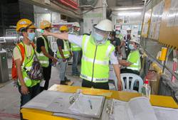 Contractors carry out preventive measures at worksites