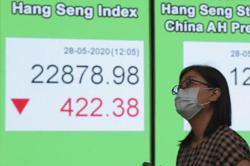 Most markets cheered by reopening moves, Hong Kong suffers losses