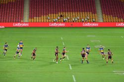 Footy's back! Eels win in Brisbane as NRL resumes