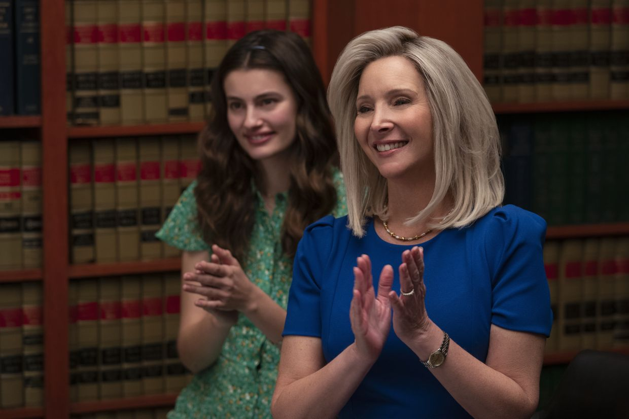 Lisa Kudrow (right) and Diana Silvers play mother and daughter in the show.