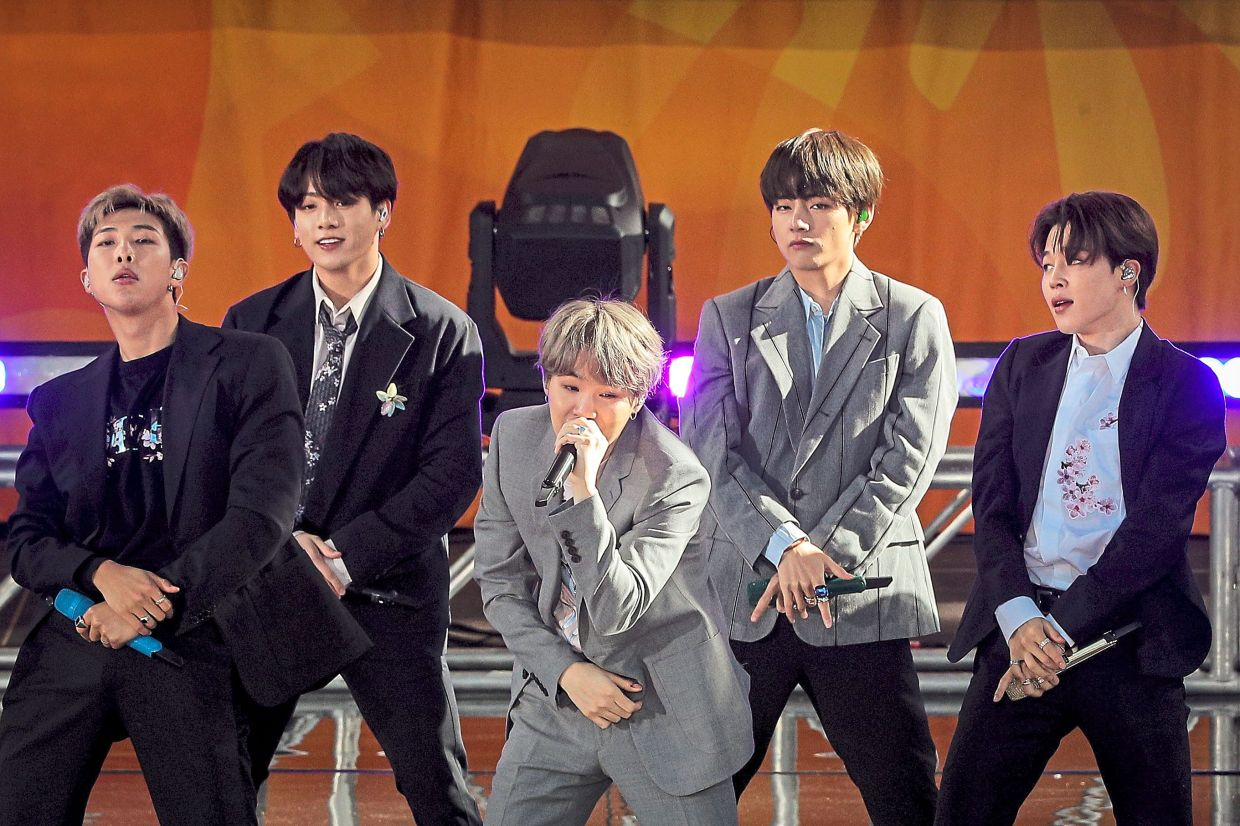 BTS is holding a pay-per-view virtual concert this month. Photo: Reuters