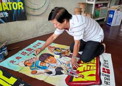 Different strokes for poster painter