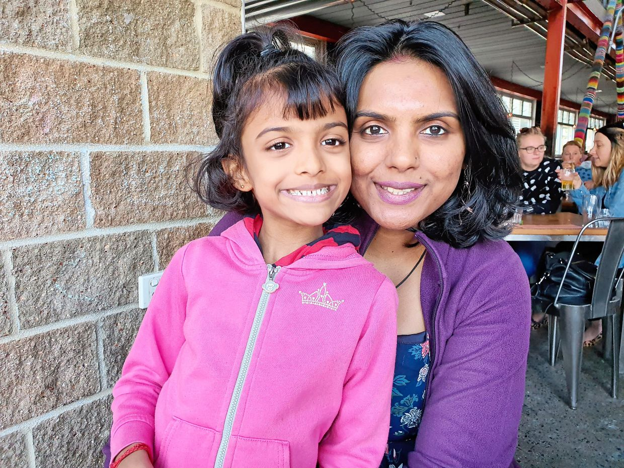 Prema (right) with her daughter Shakthisri, believes that children are more resilient than we give them credit for. Photo: Prema Jayabalan