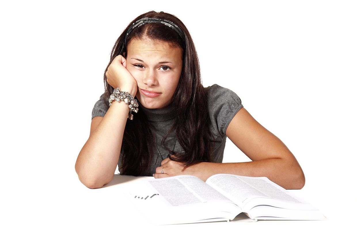 Going through studies at home without actual interaction with their teachers and classmates is not that easy. Photo: Filepic