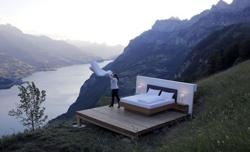 Outdoor Swiss hotel 'rooms' give new meaning to light and airy