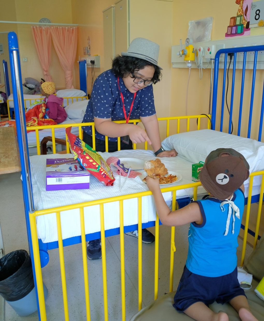 Danish also regularly provides emotional support to young cancer patients at a hospital in Kuala Lumpur.