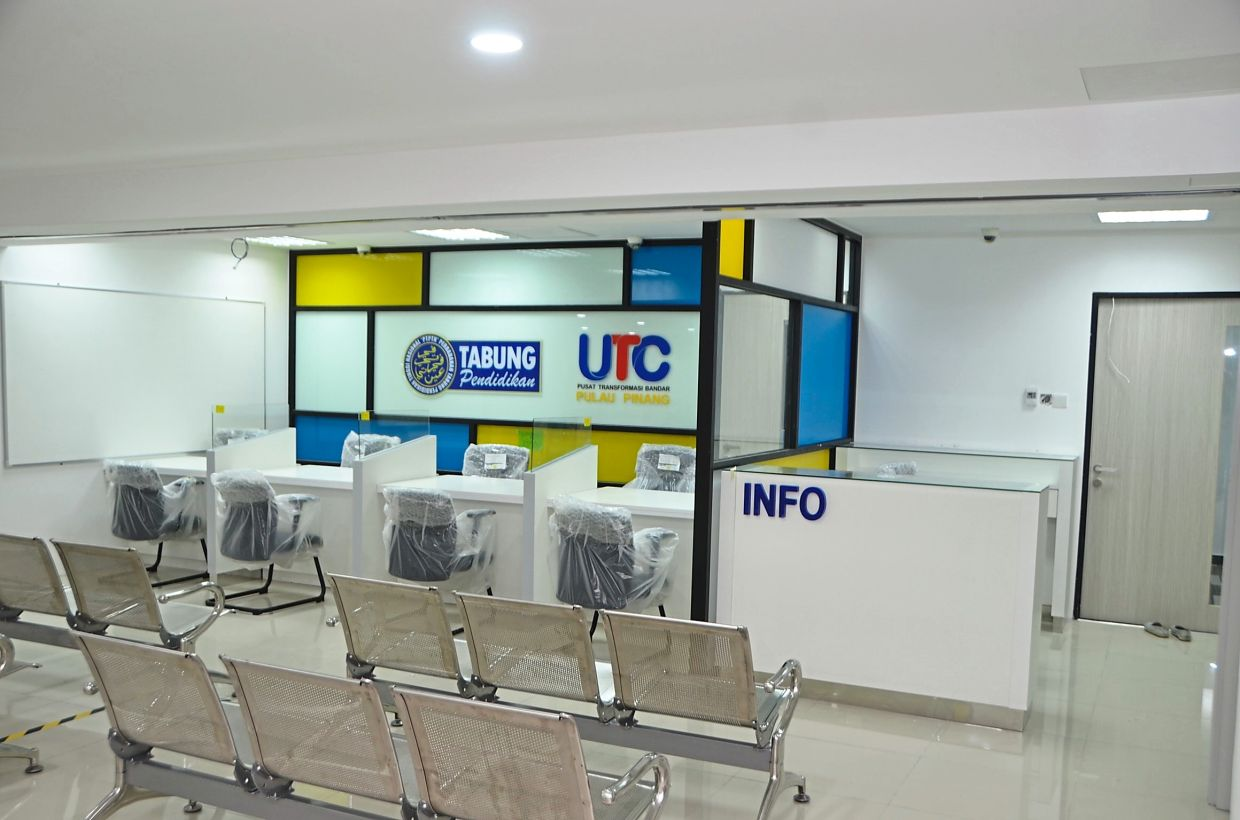 The National Higher Education Fund Corporation office at the soon-to-open UTC Pulau Pinang office near Komtar.