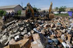 Cambodia destroys more than 130 tonnes of counterfeit drugs, products