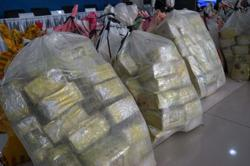 Thai state drug buster hands 600kg of seized marijuana to medical researchers