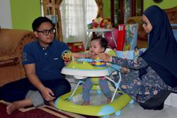 Toddler feeding well, recovering after tumour removed