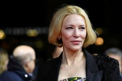 Actress Cate Blanchett injured in a chainsaw accident