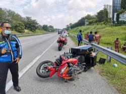 Fireman dies in superbike crash during training mission