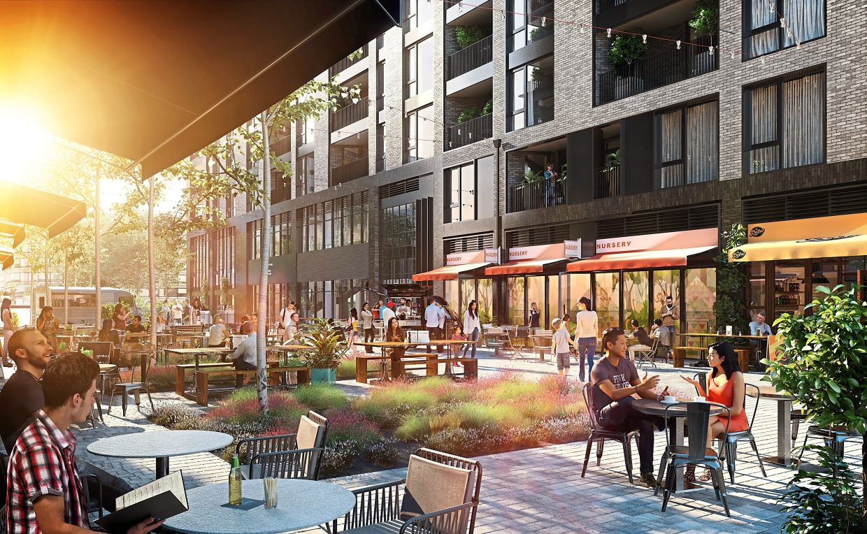 An upcoming lifestyle offering at Aberfledy Village in East India Docks, East London.